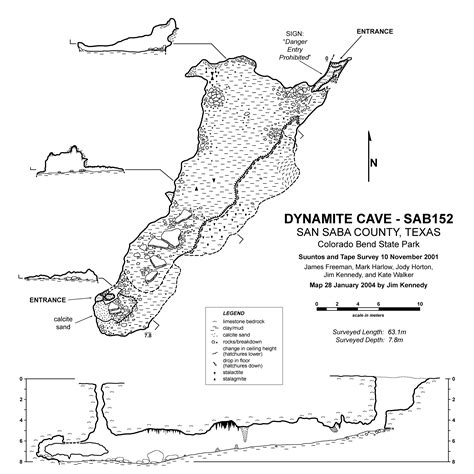 texas caves map dynamite cave tour texas speleological survey tss cave records publications national