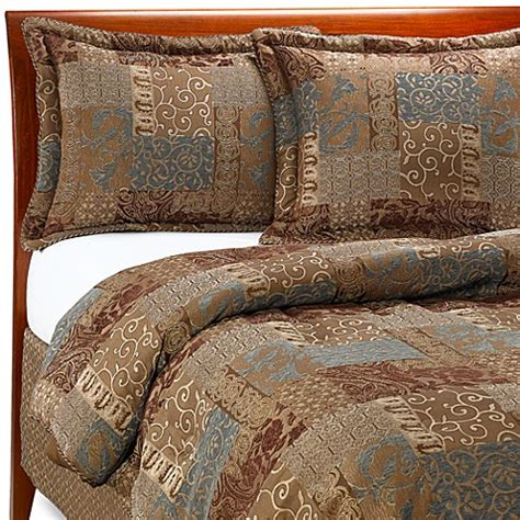 croscill 174 galleria comforter set in chocolate bed bath