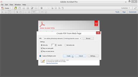 tutorial web page create a pdf from a web page in acrobat xi tutorial