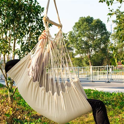 single rope hammock chair hammock chair swing seat indoor outdoor garden patio yard