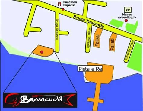 barracuda resort map location card visit picture of barracuda bar restaurant pizzeria