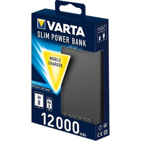 Vinzo Powerbank Slim 12000 Mah powerbank varta slim 12000 mah black