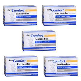 sure comfort pen needles surecomfort mini pen needles 31g 5 16 quot bx 100 case of