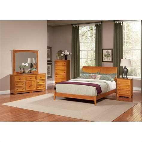 Atlantic Bedroom Furniture Atlantic Furniture Bordeaux Platform Bed With Open Footrail In Caramel Latte Ap92x1007