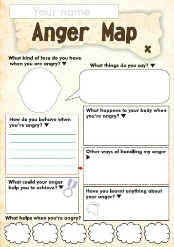 printable anger management activities character education sqworl