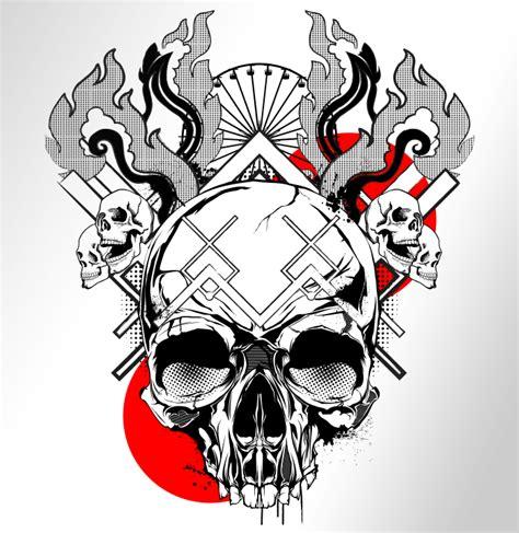 skull and flames design orlberos skull designs