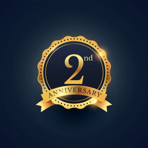 2nd anniversary golden edition vector free download