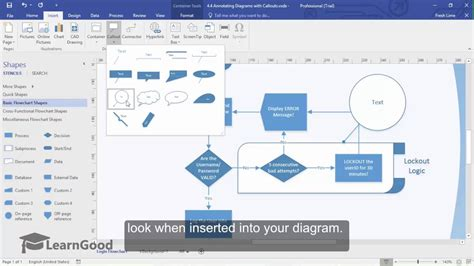 tutorial on visio microsoft visio tutorial annotating diagrams with callouts