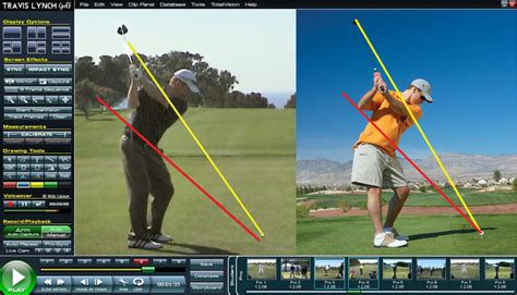golf swing analyzer software v1 video analysis travis lynch golf lessons dallas