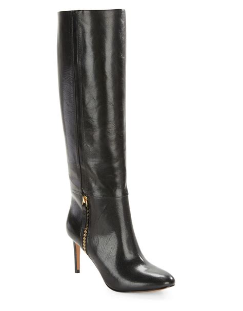 nine west vintage leather knee high boots in black lyst