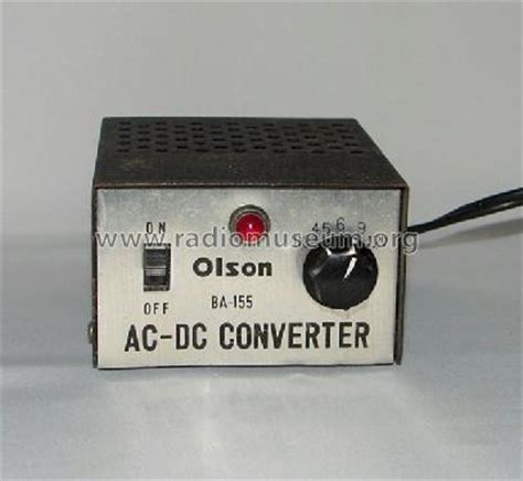 converter ac ke dc motor ac dc converter ba 155 power s olson radio corporation olso