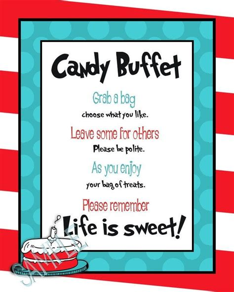buffet sign wording dr suess buffet i like the wording for tags i already wedding ideals
