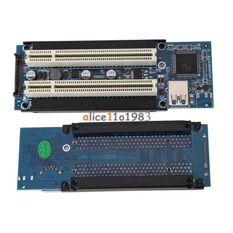 Pci E Pcie Pci Express Riser Card Usb 3 0 1x To 16x 6 Capasitor pci e express x1 to dual pci riser extend adapter card with usb 3 0 cable ebay