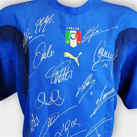 sport star autographs autographs from the worlds most italy signed world cup shirt 2006