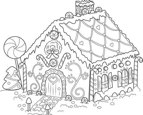 download coloring pages christmas gingerbread man