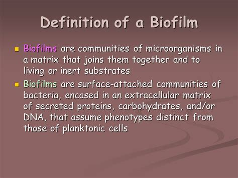 Definition Of A by Microbial Biochemistry Ppt