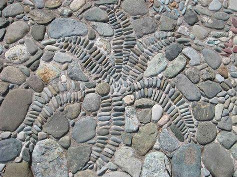 pebble mosaic fern mosaics pinterest pebble mosaic