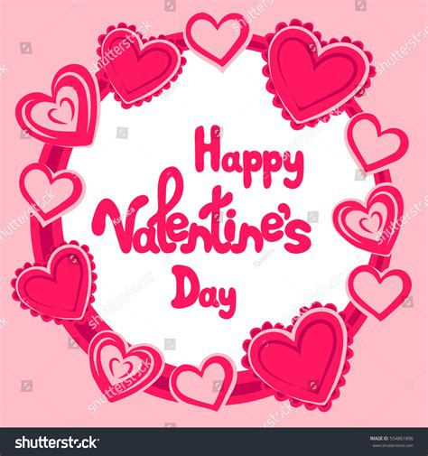valentine s happy valentines day greeting card hearts stock vector