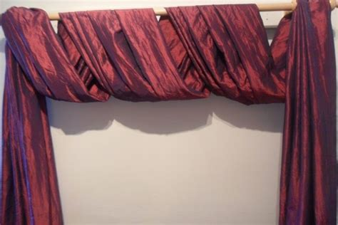 curtain scarf hanging ideas the second great way to hang your scarf swag curtains