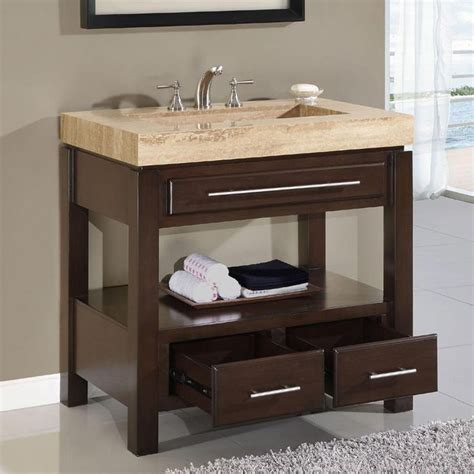 bathroom vanity drawer storage ideas modern single sink bathroom cabinet unit ideas dark walnut