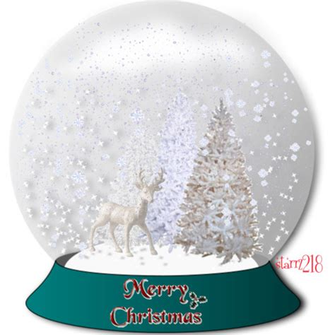 white christmas snow globe polyvore