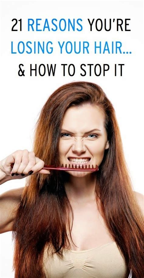 Reasons For Shedding Hair 21 reasons why you re losing your hair how to stop it hair care styling tips