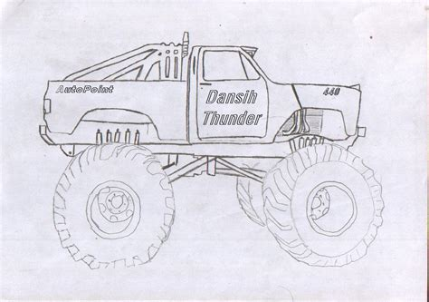 monster trucks drawings the gallery for gt chevy monster truck drawing