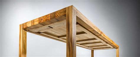 tafel maken constructie eetkamertafel massief iepenhout strakke en slanke tafel