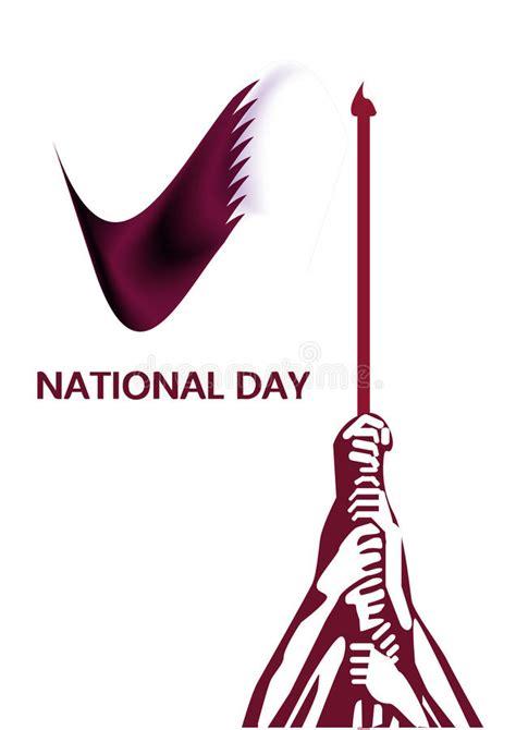 almuftah design concept qatar flag design illustration vector qatar national day logo