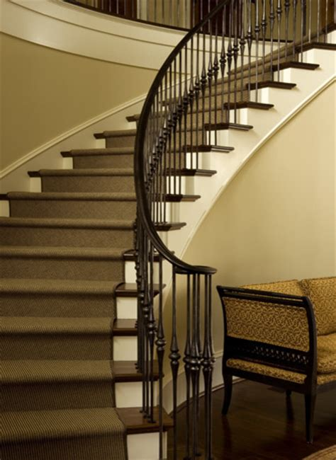 Curved Handrail For Stairs curved stair with iron handrail