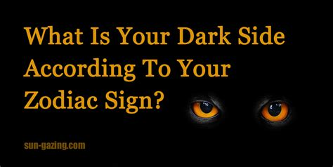 signs my is what is your side according to your zodiac sign