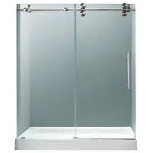frameless bypass glass shower doors vigo 59 75 in x 74 in frameless bypass shower door in