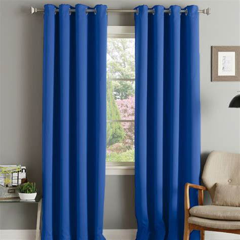 electric blue curtains linens limited thermal blackout eyelet curtains ebay