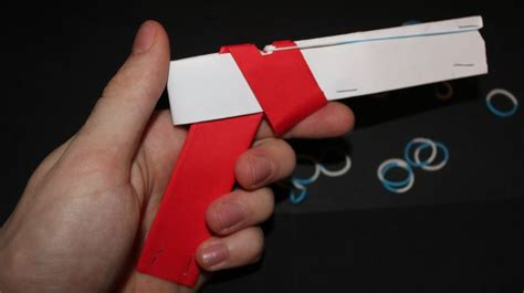 How To Make Paper Gun That Shoots - how to make a paper gun that shoots with trigger kid