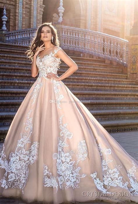 wedding dresses blush gown wedding dress pink wedding