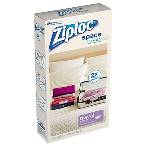 A Space Bags ziploc 174 space bag 174 6 pack travel bag bed bath beyond