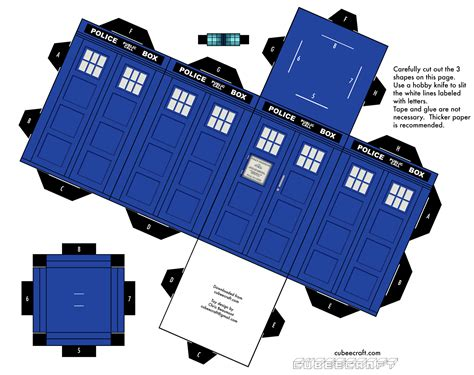 Origami Tardis - miniature dr who on doctor who deviantart and