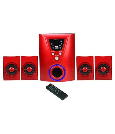 Home Theater Multimedia Visilux buy vsure bt4 1red bluetooth multimedia home theater system at best price in india