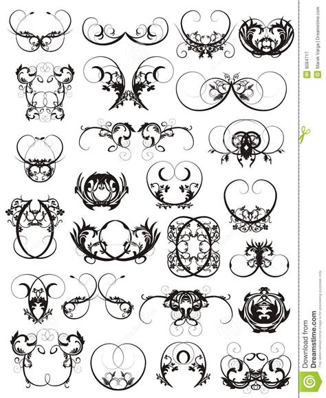 design elements of a tattoo illustration of tattoo design elements royalty free stock