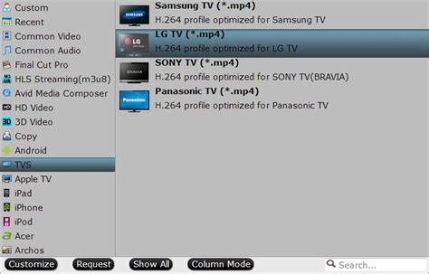 format audio tv viewing mkv vob mov to lg smart tv from usb at living room
