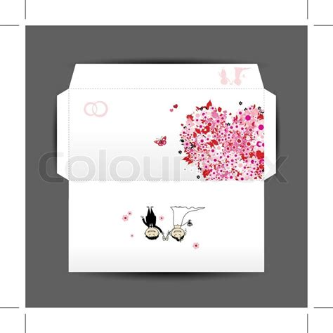 design of wedding envelope stock vector colourbox