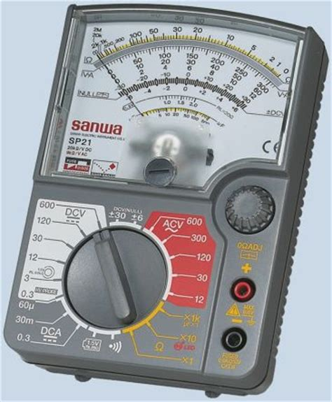 Multimeter Sunwa Analog sp21 sanwa electric instruments sp 21 analogue multimeter 0 3a dc 600v ac dc sanwa electric