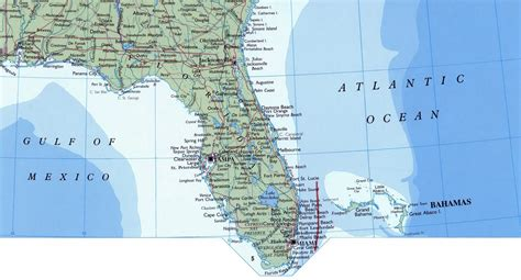 us map states florida large map of florida state with roads highways and cities