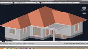 how to design a house 3d autocad 3d house part6 sloped roof autocad sloped roof