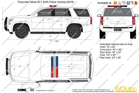 the blueprints vector drawing chevrolet tahoe 9c1
