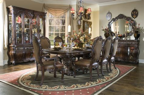 ansley manor rectangular formal dining room set michael amini essex manor formal dining room set deep