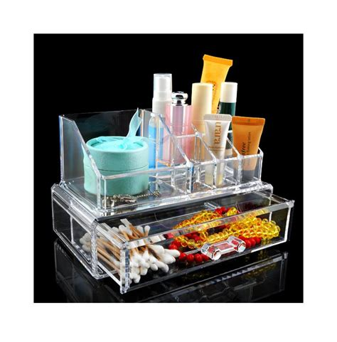 Acrylic Brush Akrilik Tempat Make Up wituse cheap acrylic clear cosmetic organizer make up lipstick brush holder drawer in