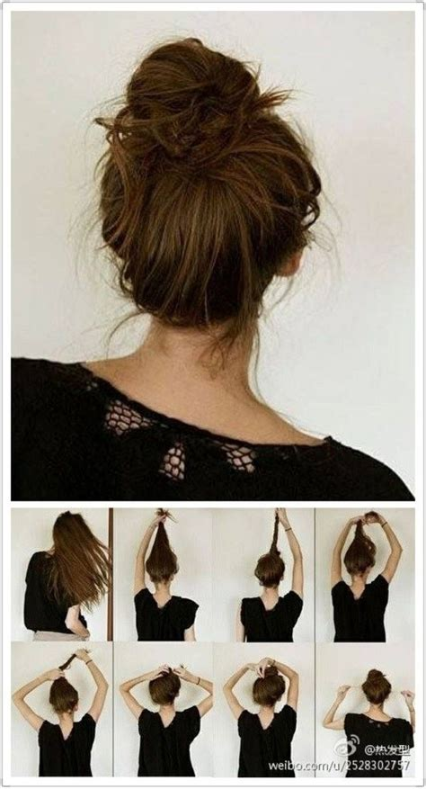 how to do high bun hairstyles messy buns buns and hair on pinterest