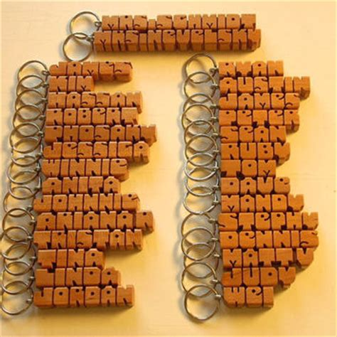 Handmade To Order - 25 wood name keychains any names carved from dustynewt