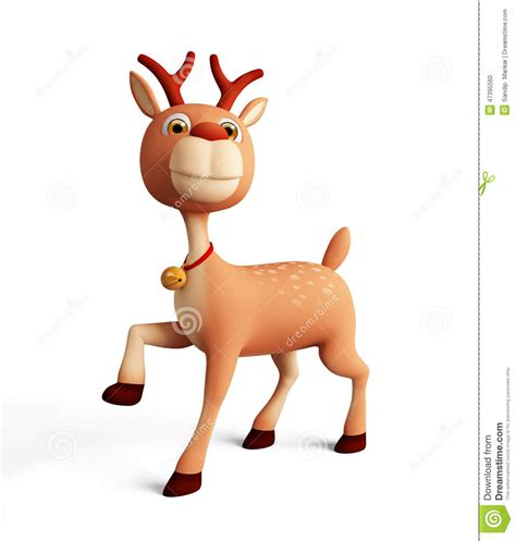 3d reindeer for christmas stock illustration illustration